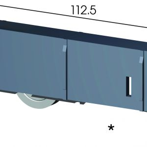 DR245 Adjustable Door Carriage